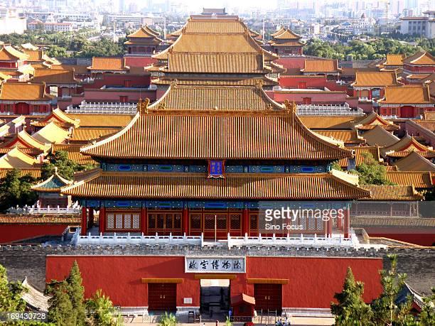Bird's eye view of Forbidden City