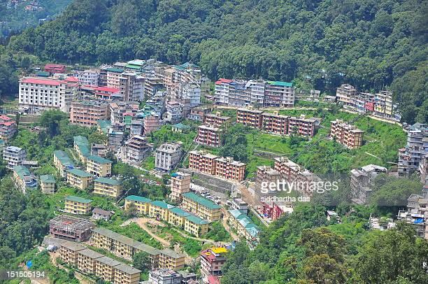 Bird's eye view of Gangtok City, Sikkim, India