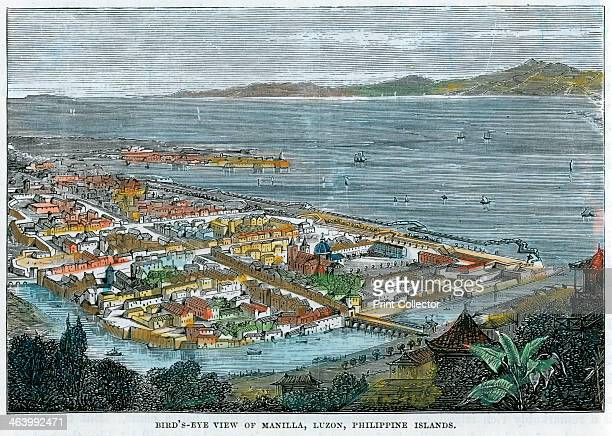 'Bird's eye view of Manilla, Luzon, Philippine Islands', c1880. The Philippines were a Spanish colony at the time.