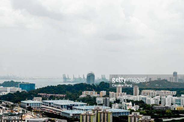 Bird's eye view of Singapore.