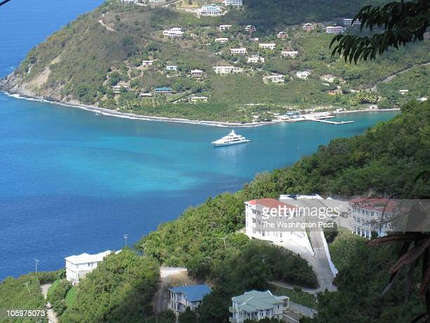A bird's eye view of the entrance to Cane Garden Bay Tortola's most popular beach British Virgin Islands Freelance Photo imported to Merlin on Fri...