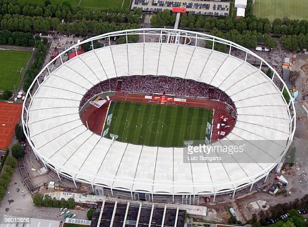 Birds eye view of the Gottlieb Daimler Stadium during the Bundesliga match between VfB Stuttgart and FC Bayern Munich on May 21 2005 in Stuttgart...