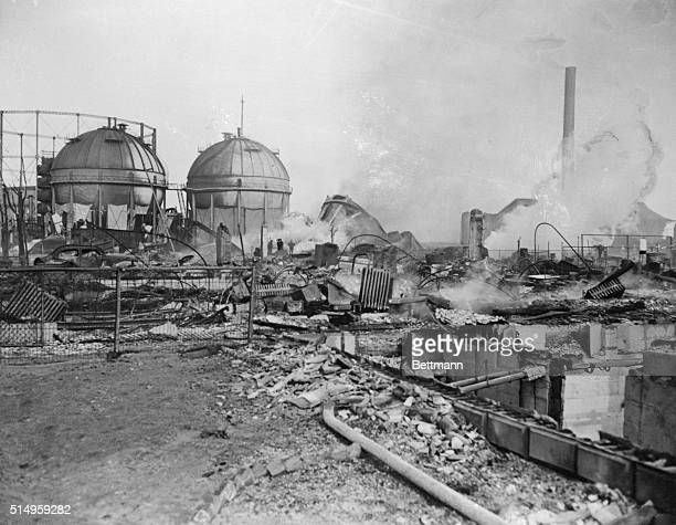 Birds fell flaming from the sky when a tank of the East Ohio Gas Company exploded leaving this scene of devastation near the center of Cleveland ten...