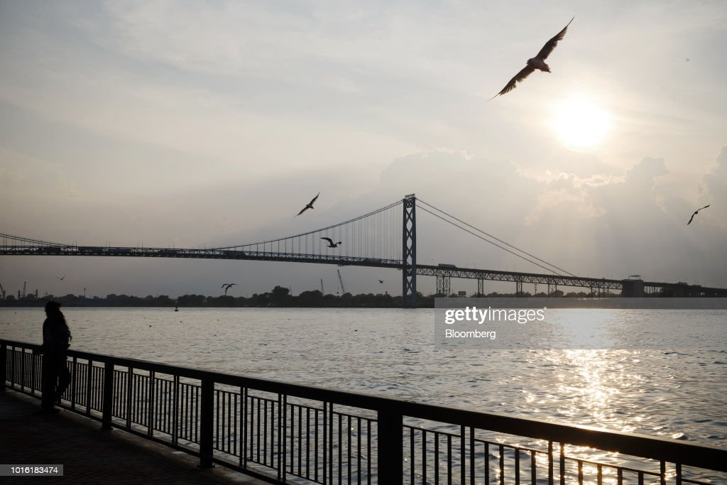 Ambassador Bridge Traffic At The U.S. Border As Canada Overcomes Trump's Metal Tariffs With Record Exports