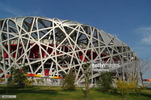 北京の鳥の巣スタジアム - 国立オリンピック競技場 ストックフォトと画像