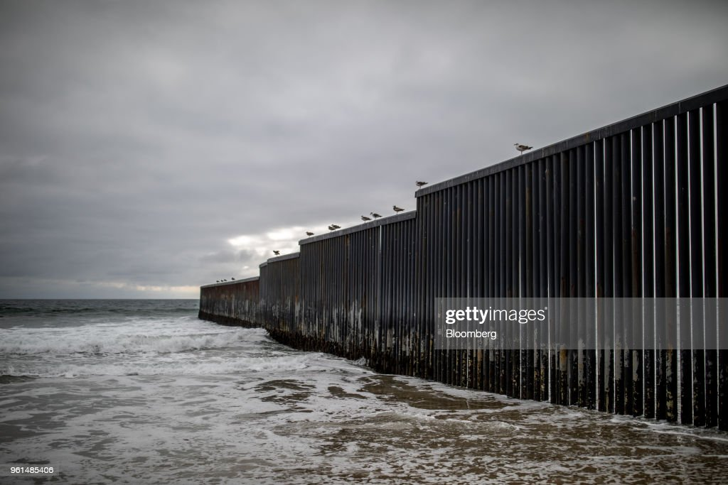 U.S. Mexico Border Wall As Presidential Candidate Lopez Obrador Dismisses Trump's Threats