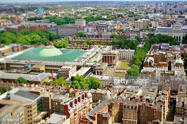 Bird's view of British Museum district of London
