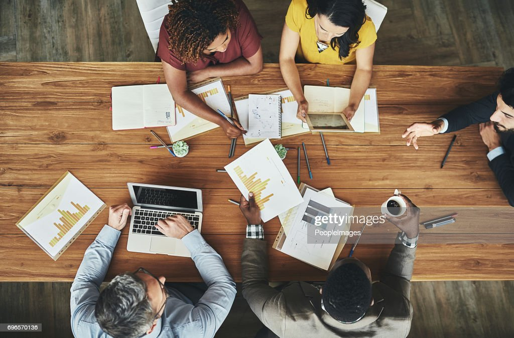 Birds-eye view of business : Stock Photo