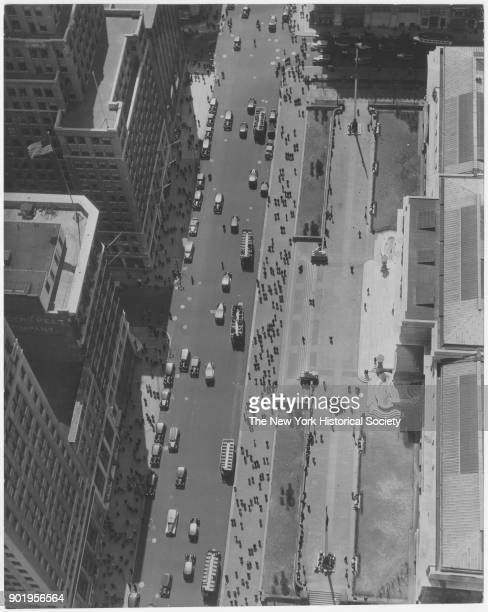 Birdseye view of Fifth Avenue facade of the New York Public Library New York New York 1929