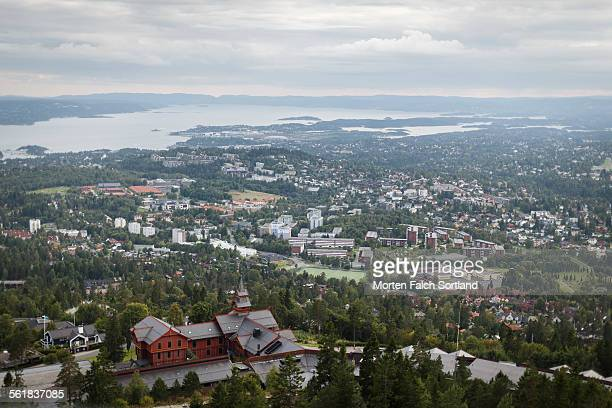 Bird's-eye view of Holmenkollen