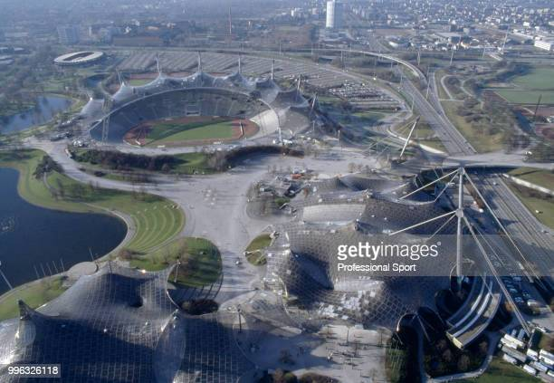 A bird'seye view of the Olympic Stadium in Munich Germany circa December 1985