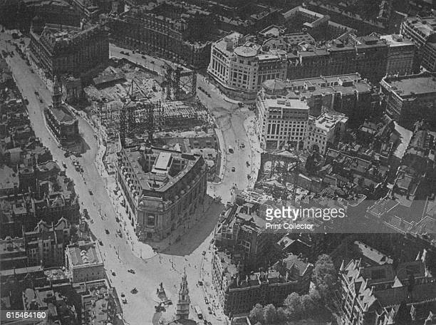 Bird'seye view of the surroundings of Bush House London 1924 Designed by American architect Harvey Wiley Corbett Bush House was built in stages...