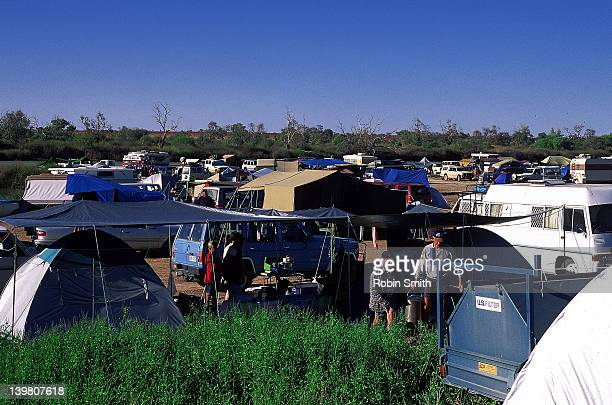 Birdsville camping ground during Birdsville Races period, Queensland
