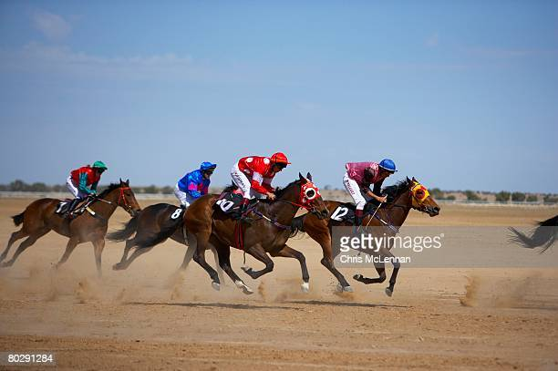 birdsville races, australian outback, simpson desert, queensland. - racehorse stock pictures, royalty-free photos & images