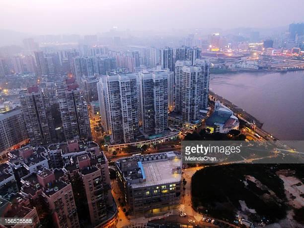Birdview apartment buildings in Macau