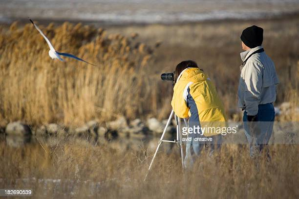 Birdwatching Couple