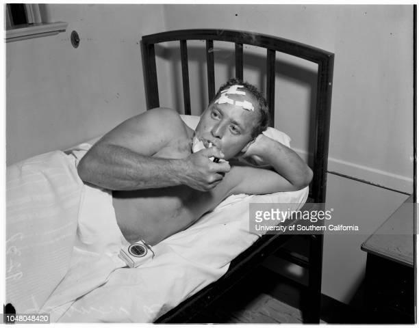 Birdwell arrested...Hollywood Hospital, 4 August 1951. Vernon Burgess -- 29 years ;Joan Birdwell -- 20 years .806 North Elm Drive; Hollywood; Beverly...