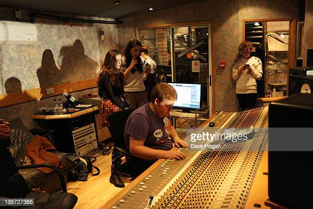Birdy aka Jasmine Van Den Bogaerde works in the studio during a Biz Session to promote her debut album 'Birdy' on November 25 2011 in London United...