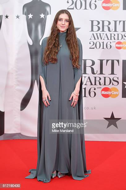 Birdy attends the BRIT Awards 2016 at The O2 Arena on February 24 2016 in London England