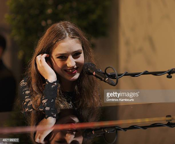 Birdy peforms during the HM Flagship Fifth Avenue Store launch event at HM Flagship Fifth Avenue Store on July 15 2014 in New York City