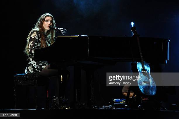 Birdy performs as Free The Children hosts thier debut UK global youth empowerment event We Day at Wembley Arena on March 7 2014 in London England