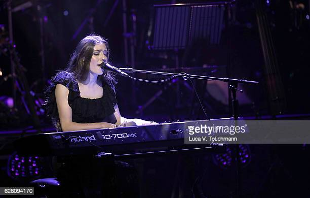 Birdy performs on stage during The Magic of Christmas at London Palladium on November 27 2016 in London England