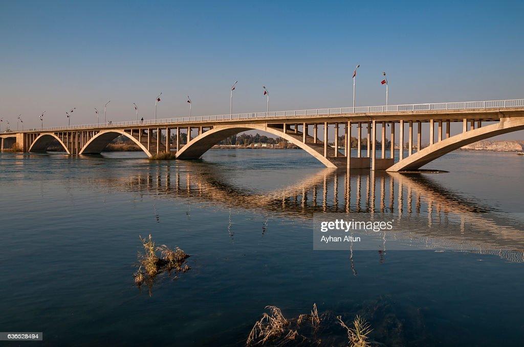 Birecik Bridge ,Gaziantep,Turkey : Stock Photo
