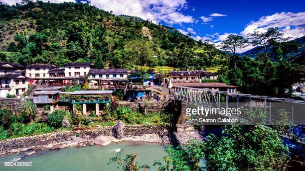 birethanti in the annapurna district - pokhara stock pictures, royalty-free photos & images