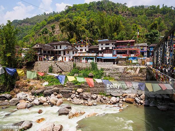 Birethanti village, start of Annapurna trek Nepal
