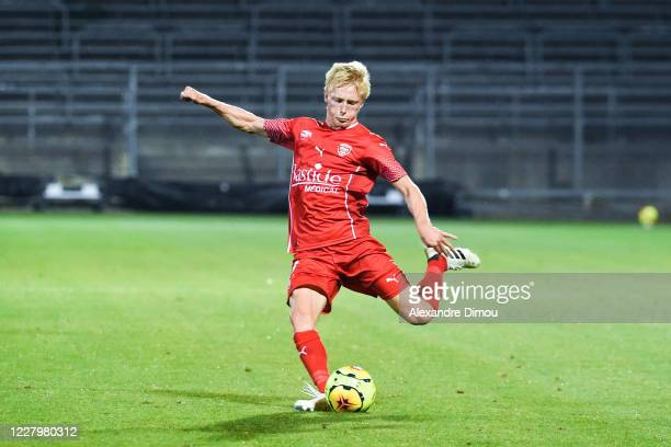 Birger MELING of Nimes during the friendly match between Nimes and Marseille on August 9, 2020 in Nimes, France. During the friendly match between...