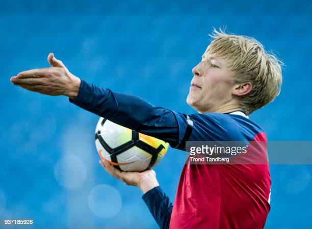 Birger Meling of Norway during International Friendly between Norway v Australia at Ullevaal Stadion on March 23 2018 in Oslo Norway