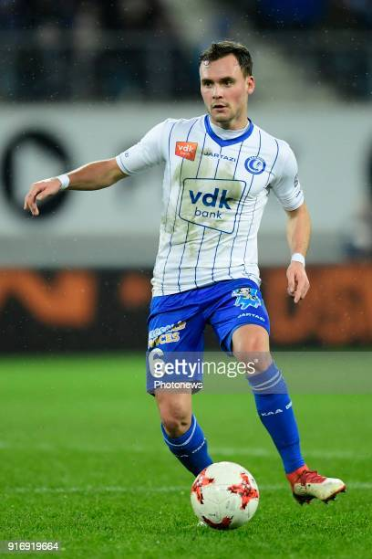 Birger Verstraete midfielder of KAA Gent in action during the Jupiler Pro League match between KAA Gent and Sint Truidense VV at the Ghelamco Arena...
