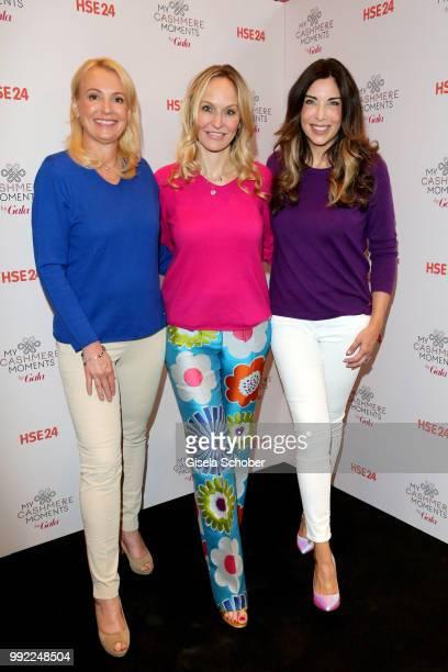 Birgit Andiel, Anne Meyer-Minnemann and Alexandra Polzin attend The Fashion Hub during the Berlin Fashion Week Spring/Summer 2019 at Ellington Hotel...