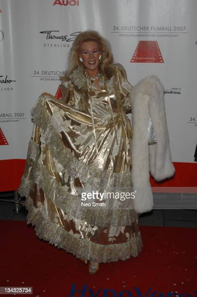Birgit Bergen during Deutscher Filmball 2007 Red Carpet at Hotel Bayerischer Hof in Munich Bayern Germany