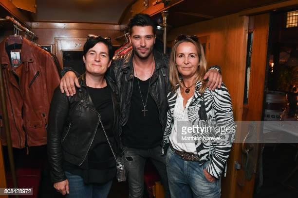 Birgit Duft Karlo Lewis and Petra Krautgartner are seen Freaky Nation summer of love on July 4 2017 in Berlin Germany