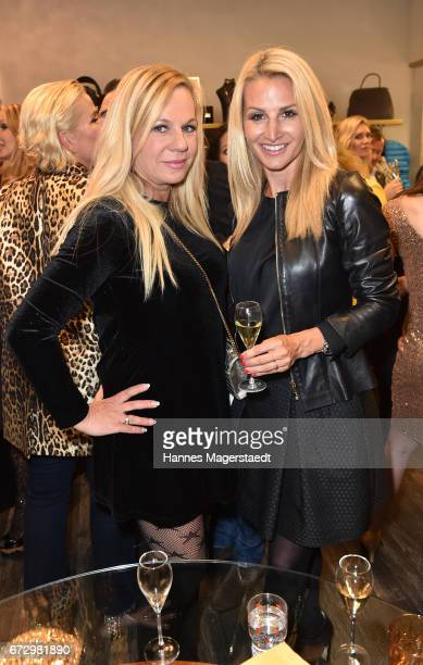 Birgit FischerHoeper and Sandra Abt during the 'Kunst Kleid' fashion cocktail on April 25 2017 in Munich Germany