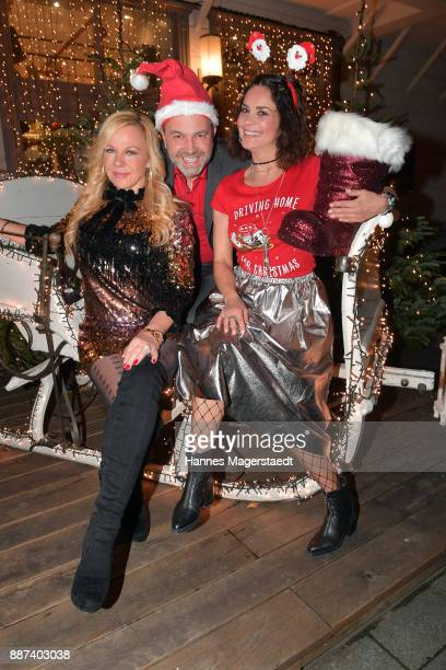Birgit FischerHoeper Pedro da Silva and Gitta Saxx during the CONNECTIONS PR XMAS Cocktail at Kaefer Atelier on December 6 2017 in Munich Germany
