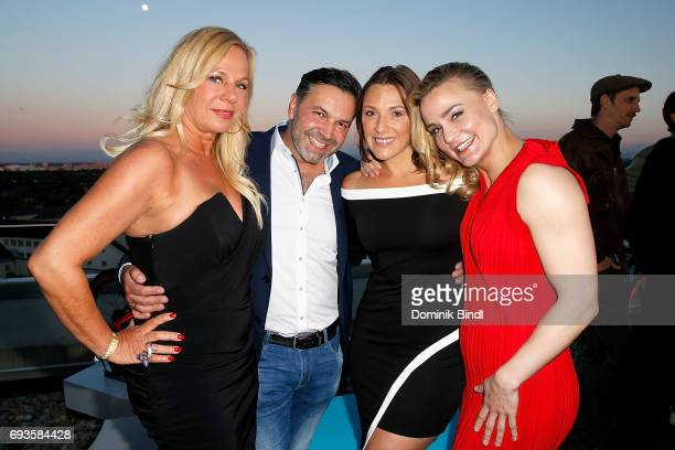 Birgit FischerHoeper Pedro da Silva Simone Ballack and Nicole Wesner during the celebration of the 45th anniversary of Playboy Germany at Upside East...