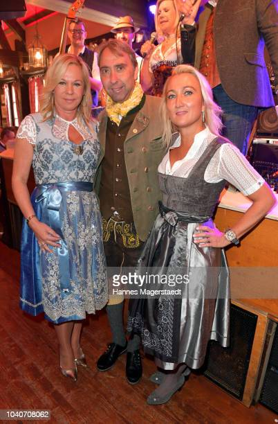 Birgit FischerHoeper Werner Hochreiter and Annika Gassner during the charity lunch in favor of the Frohes Herz eV as part of the Oktoberfest 2018 at...