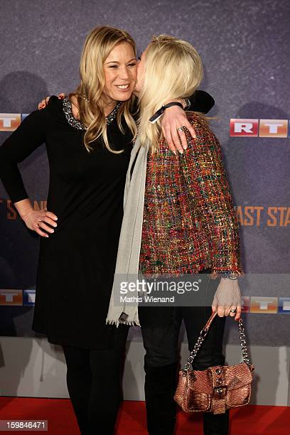 Birgit Graefin von Bentzel and Aleksandra Bechtel attend the 'The Last Stand' Cologne Premiere at Astor Film Lounge on January 21, 2013 in Cologne,...