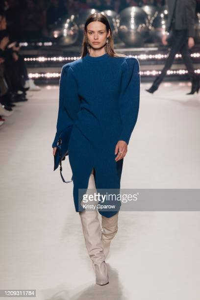 Birgit Kos walks the runway during the Isabel Marant show as part of Paris Fashion Week Womenswear Fall/Winter 2020/2021 on February 27 2020 in Paris...