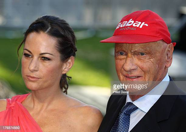 Birgit Lauda and Niki Lauda attend the World Premiere of Rush at Odeon Leicester Square on September 2 2013 in London England