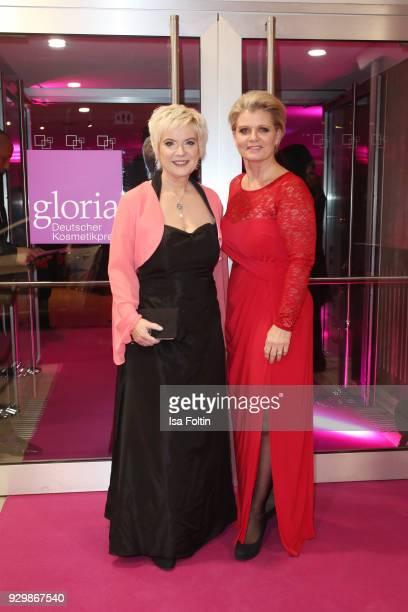 Birgit Lechtermann and Andrea Spatzek attend the Gloria Deutscher Kosmetikpreis at Hilton Hotel on March 9 2018 in Duesseldorf Germany