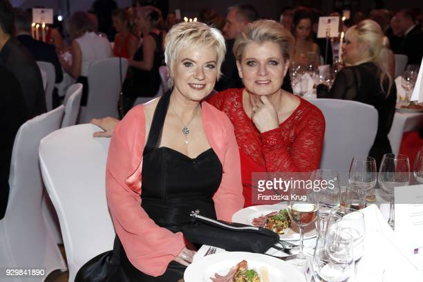 Birgit Lechtermann and Andrea Spatzek during the Gloria Deutscher Kosmetikpreis at Hilton Hotel on March 9 2018 in Duesseldorf Germany