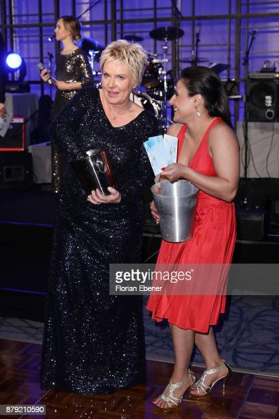 Birgit Lechtermann and Susianna Kentikian attend the charity event Dolphin's Night at InterContinental Hotel on November 25 2017 in Duesseldorf...