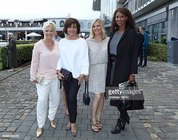 Birgit Lechtermann Birgit Schrowange Aleksandra Bechtel and Liz Baffoe attend the media night of the CHIO 2016 on July 12 2016 in Aachen Germany