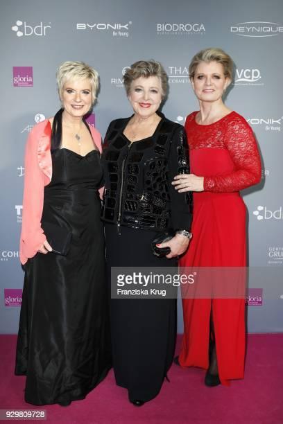 Birgit Lechtermann MarieLuise Marjan and Andrea Spatzek attend the Gloria Deutscher Kosmetikpreis at Hilton Hotel on March 9 2018 in Duesseldorf...