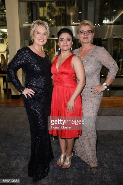 Birgit Lechtermann Susianna Kentikian and Andrea Spatzek attend the charity event Dolphin's Night at InterContinental Hotel on November 25 2017 in...
