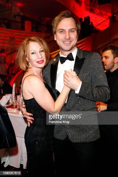 Birgit Minichmayr and Lars Eidinger during the 46th German Film Ball at Hotel Bayerischer Hof on January 26 2019 in Munich Germany