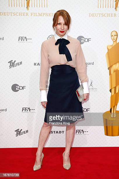 Birgit Minichmayr attends the Lola German Film Award 2013 at Friedrichstadt-Palast on April 26, 2013 in Berlin, Germany.